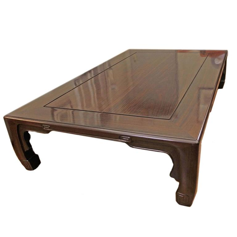 Japanese Low Rectangular Coffee Table At 1stdibs