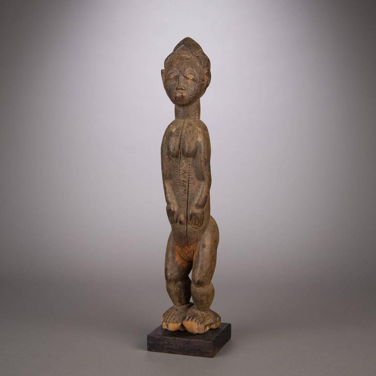 Late 19th Century Tribal Baule Figure In Good Condition For Sale In New York, NY