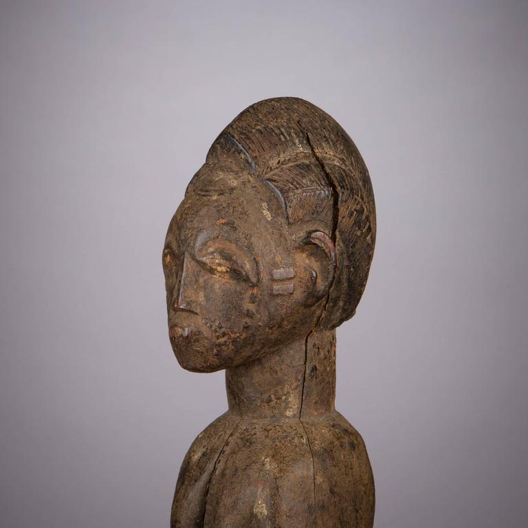 Late 19th Century Tribal Baule Figure For Sale 3