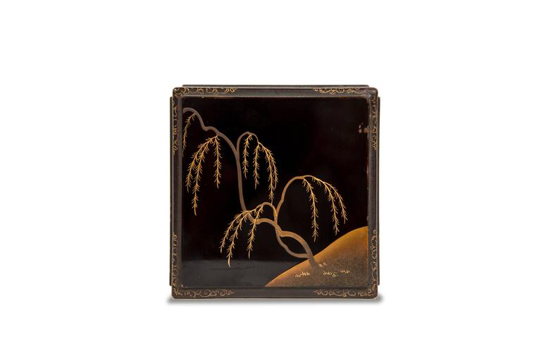 Edo Balck and Gold Japanese Lacquered Cabinet 8