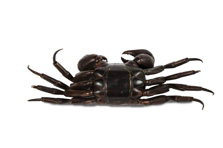Meiji Japanese Articulated Bronze Crab Jizai For Sale 2