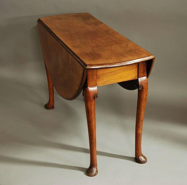 Mid 18th century well figured mahogany pad foot table for for 7 foot dining room table