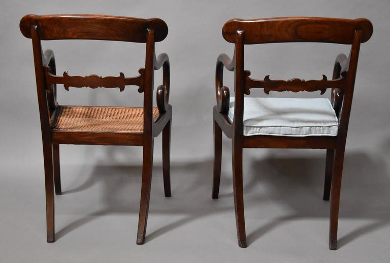 Superb Set of Eight Regency Mahogany Dining Chairs of Superb Patina For Sale 4