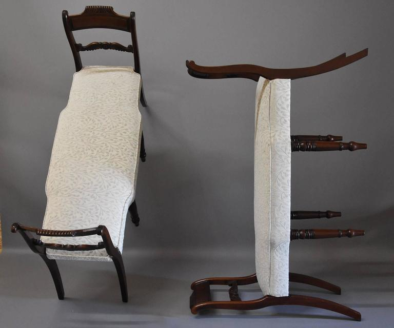 Superb Pair of Early 19th Century Mahogany Window Seats