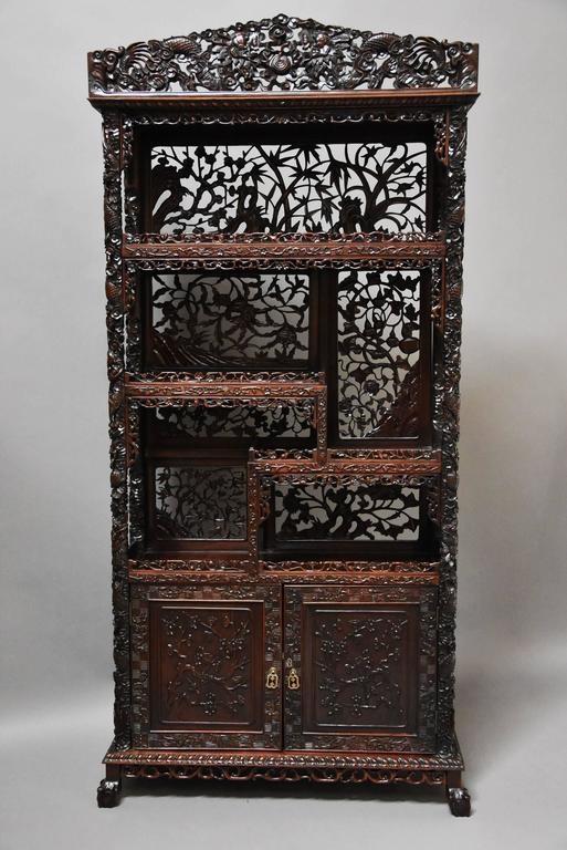 Superb Quality 19th Century Chinese Profusely Carved