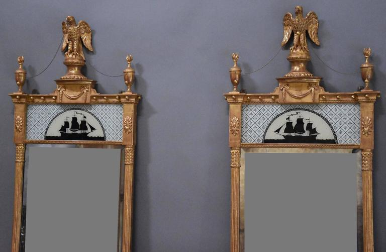 Superb Pair of Carved Giltwood Pier Mirrors in the Regency Style In Excellent Condition For Sale In Suffolk, GB