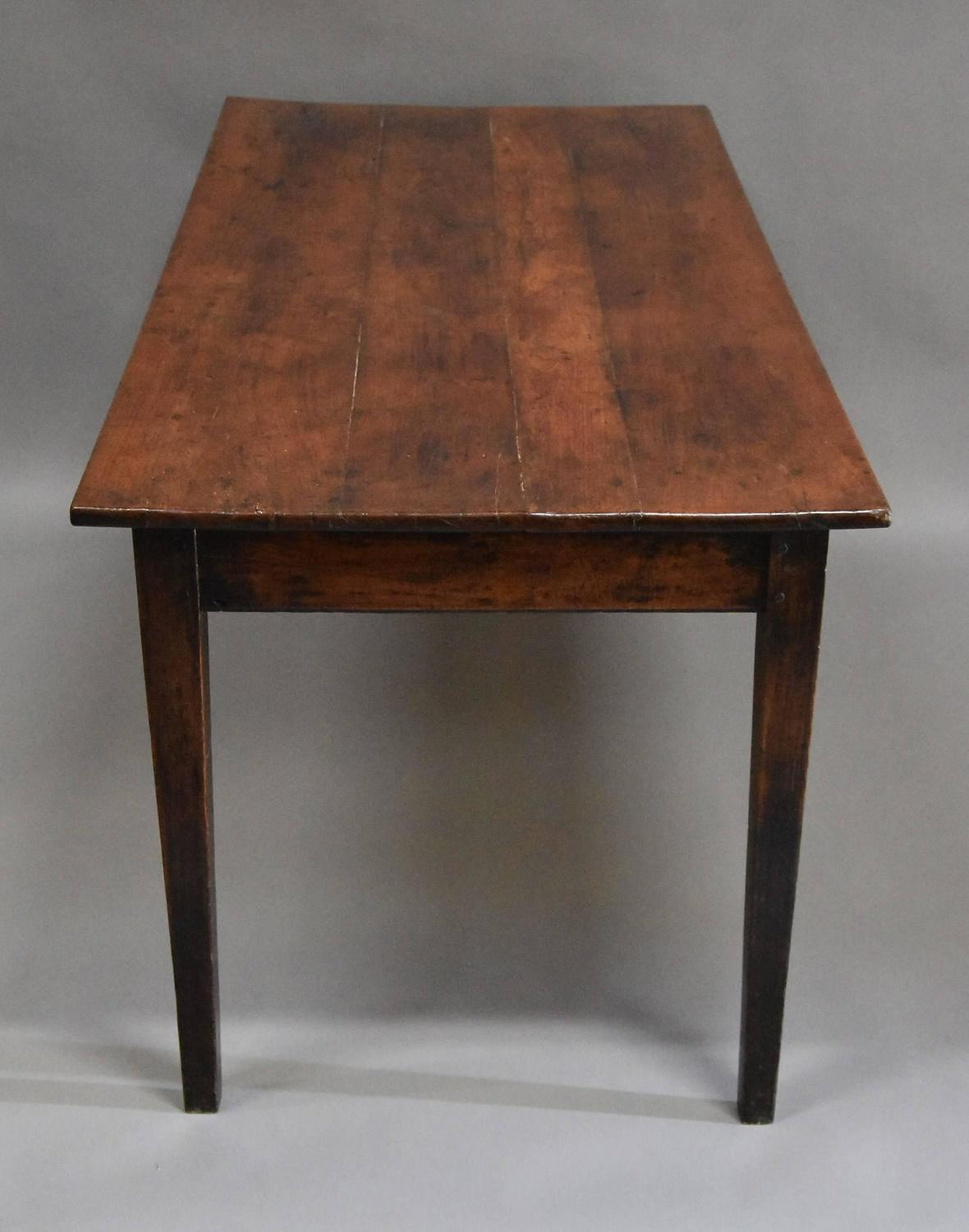 French 19th Century Fruitwood Cherry And Elm Farmhouse Table For Sale At 1s