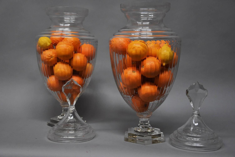 Apothecary Lidded Art Glass