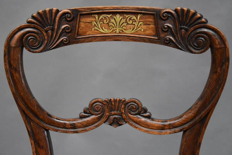 Pair of 19th Century Simulated Rosewood Regency Chairs in the Manner of Gillows For Sale 1