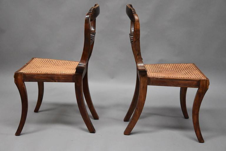 Pair of 19th Century Simulated Rosewood Regency Chairs in the Manner of Gillows For Sale 3