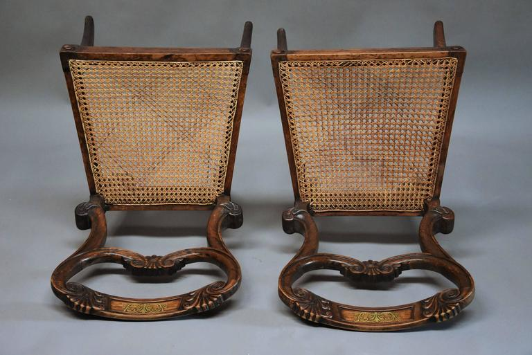 Pair of 19th Century Simulated Rosewood Regency Chairs in the Manner of Gillows For Sale 4