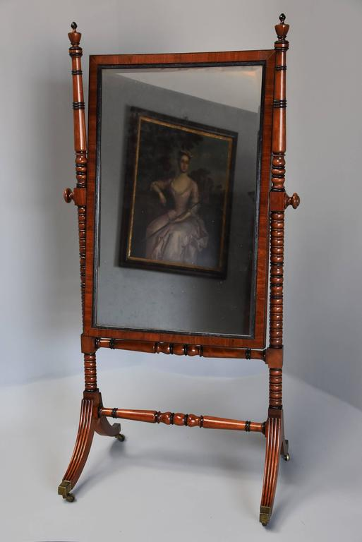 Early 19th Century Fine QualityRegency Mahogany Cheval Mirror In Excellent Condition For Sale In Suffolk, GB