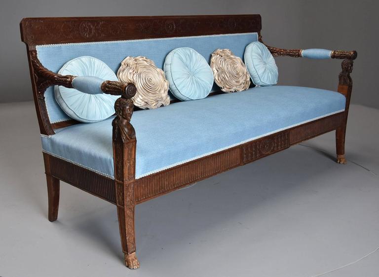 Late 18th Century Rare Walnut Italian Sofa \'Canape\' of Neoclassical ...