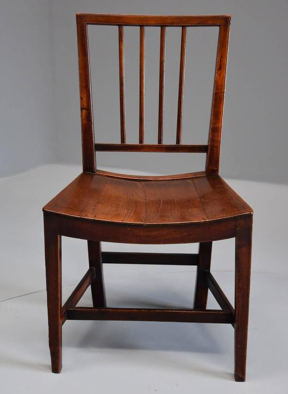 18th Century Set Of Six East Anglian Fruitwood Chairs For Sale 1