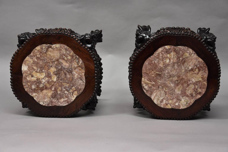 Pair of Late 19th Century, Chinese Pot Stands or Low Tables For Sale 4