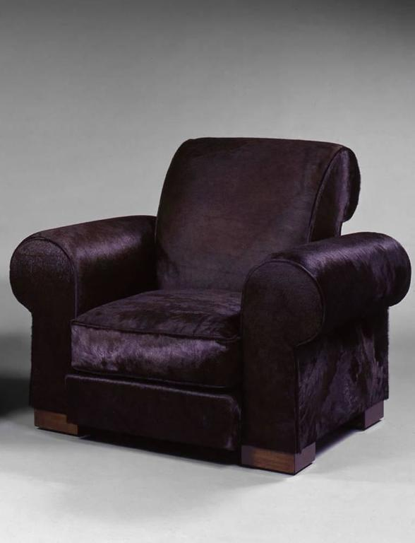 Art Deco Marc du Plantier, Rare Pair of Comfortable Armchairs, circa 1936 For Sale