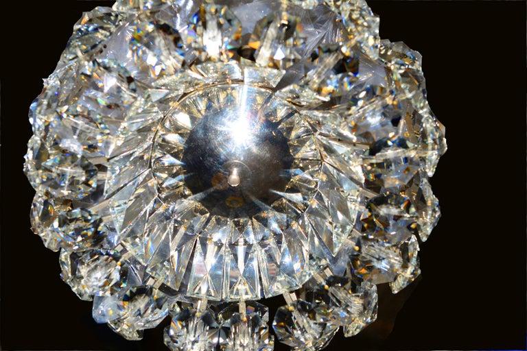 Mid-Century Modern Petite Bakalowits Crystal Chandelier For Sale