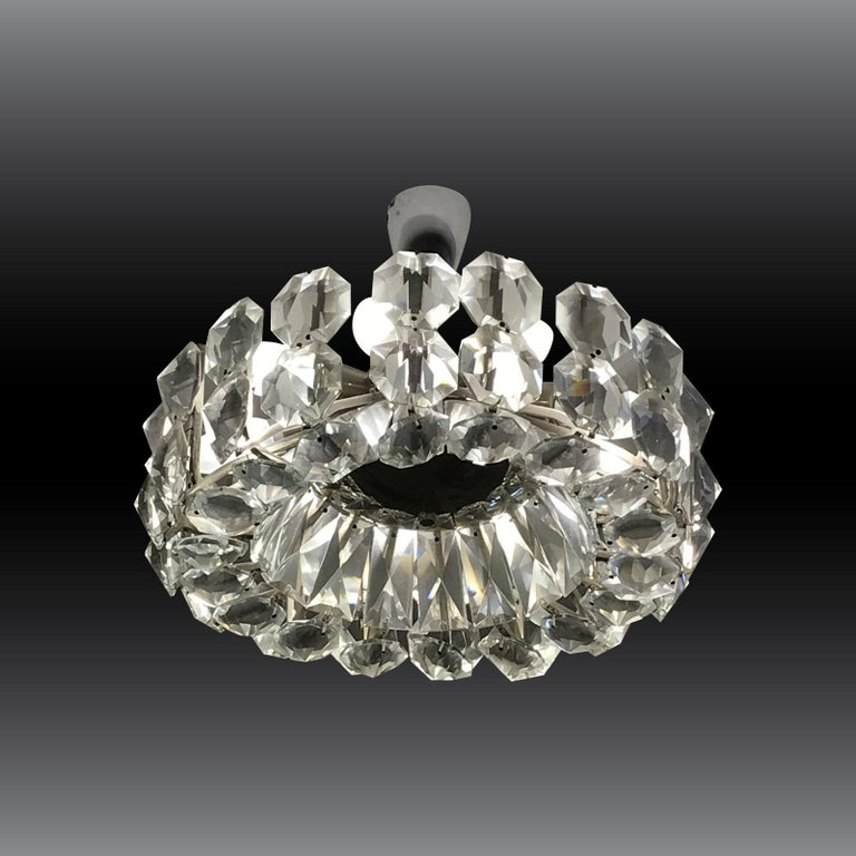 Hand-Crafted Petite Bakalowits Crystal Chandelier For Sale