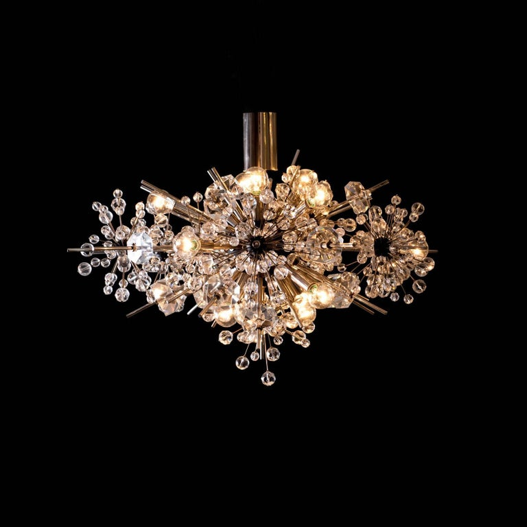 Austrian Original Mid-Century Modern Lobmeyr Metropolitan Opera-Chandelier Exploding Star For Sale