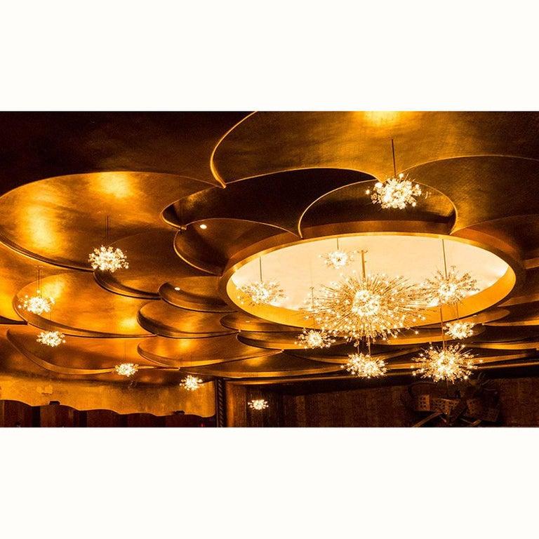 Mid-20th Century Original Mid-Century Modern Lobmeyr Metropolitan Opera-Chandelier Exploding Star For Sale