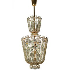 Mid-Century Modern Terrific Vienna States Opera House Chandelier by Bakalowits