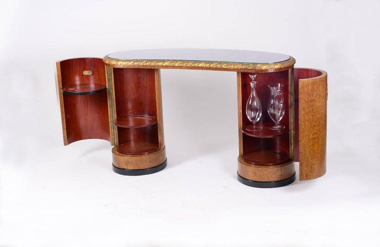 Austrian Original Art Deco Vanity Set/Ensemble, 1930-1940, European Bird's-Eye Maple  For Sale
