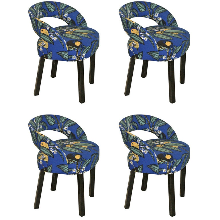 Two Josef Hoffmann/Oswald Haerdtl Chairs Early Art Deco, New Fabric -Josef Frank For Sale
