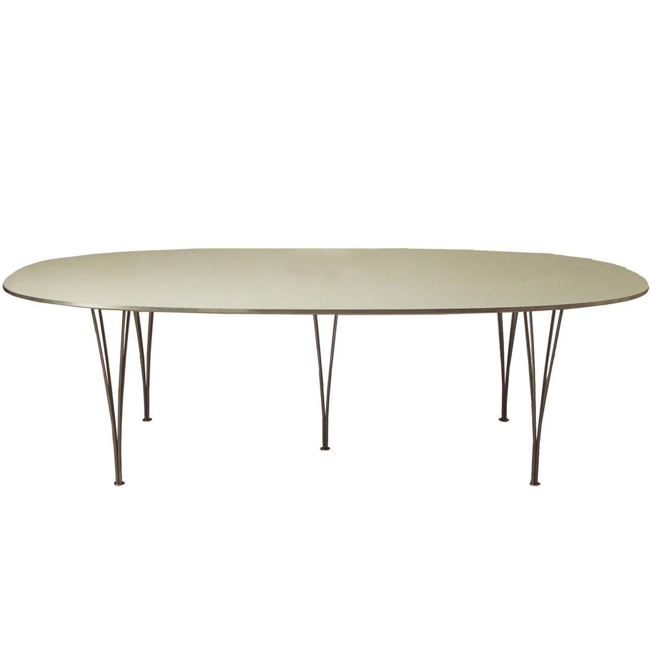 Piet Hein, Mid-Century Modern, Super Ellipse Table Manufactured by Fritz Hansen