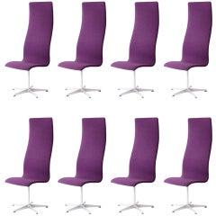 Acht Stühle von Arne Jacobsen, hergestellt von Fritz Hansen, Mid Century Moderne