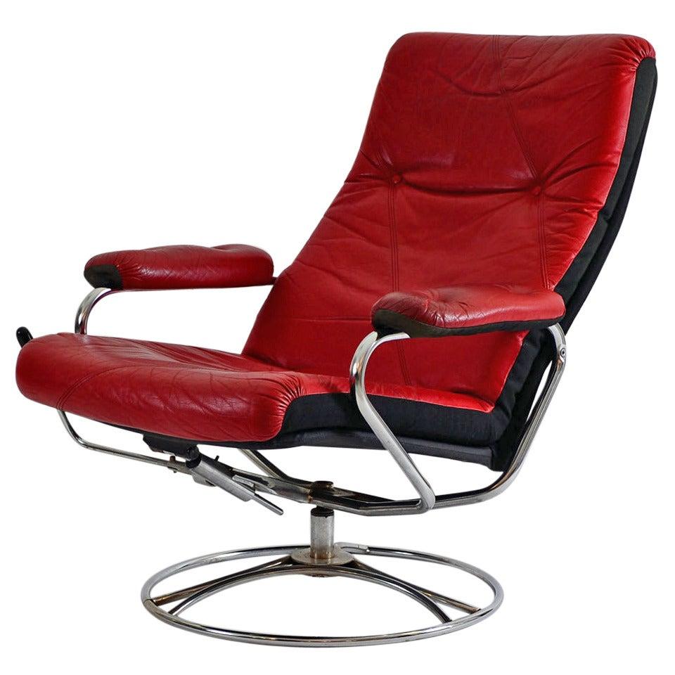 Predecessor of the Ekornes Stressless Lounge Chair, Original Mid Century Modern