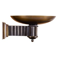 Art Deco Style Bauhaus Brass Torch/Wall-Lamp - Re Edition