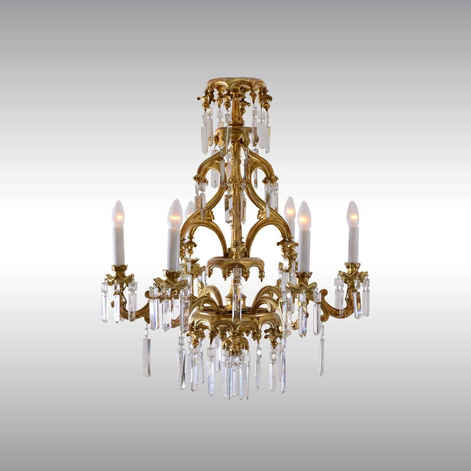 historistic chandelier in gothic style for sale at 1stdibs
