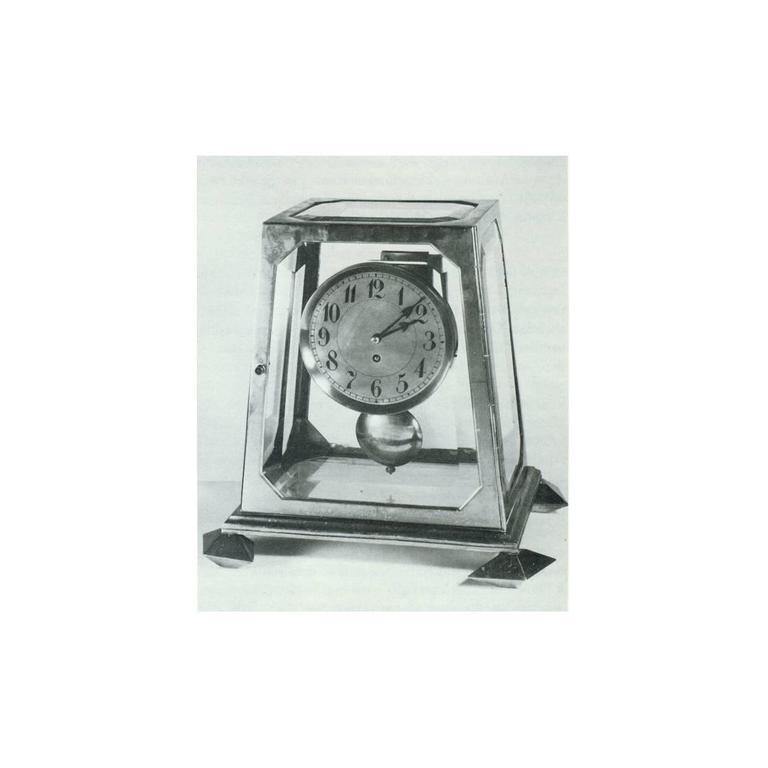 Cast Adolf Loos Mantelpiece-Clock Designed in 1900 For Sale