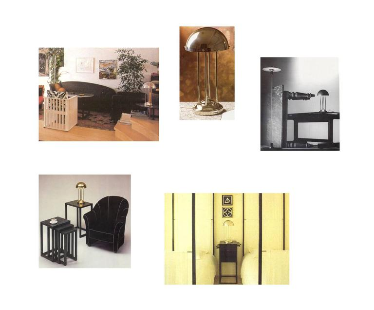 Hand-Crafted Avantgardistic Josef Hoffmann Secessionist Jugendstil Table Lamp Re-Edition  For Sale