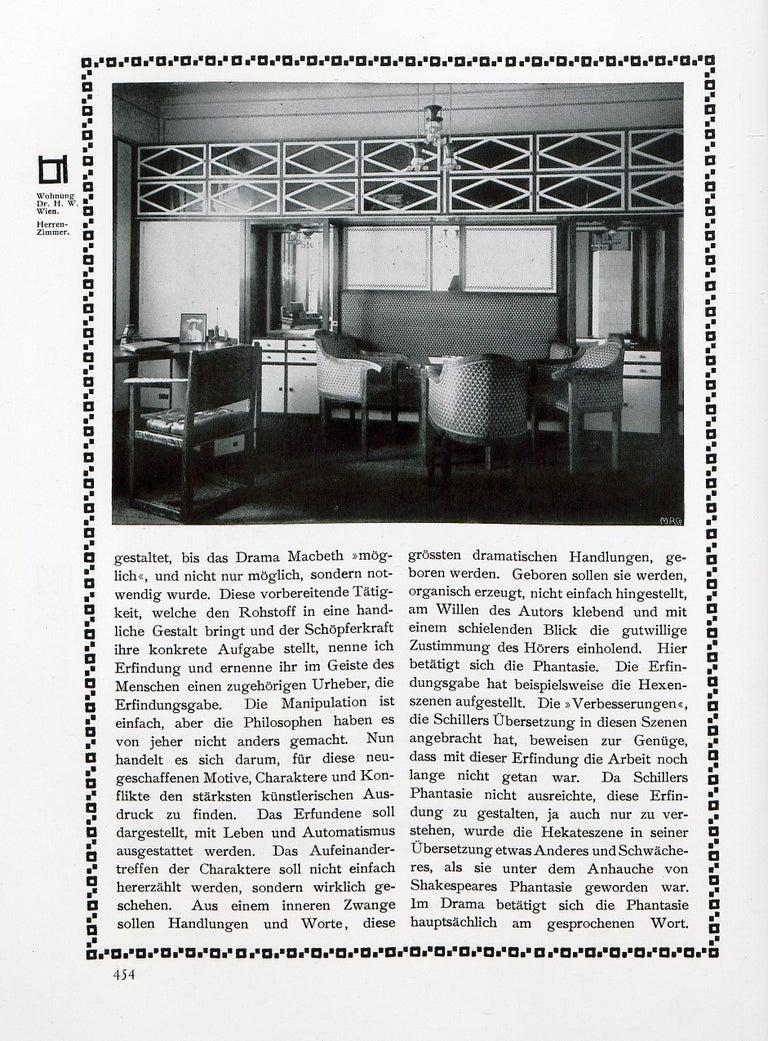 Austrian Josef Hoffmann & Wiener Werkstätte Jugendstil Style by Woka Lamps For Sale
