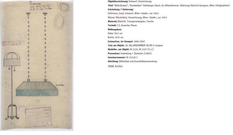 Austrian Josef Hoffmann & Wiener Werkstaette Jugendstil Pendant, Re-Edition   For Sale