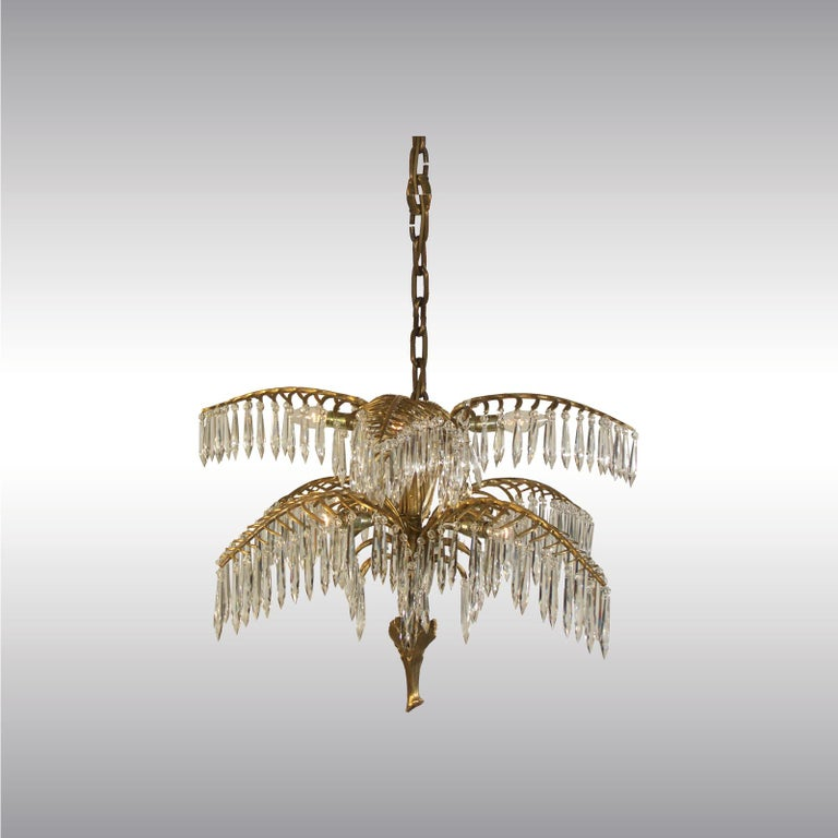 Variation of the great Palme designed by Josef Hoffmann around about 1918.  Additional Information: Ø: 72 cm (28.35 inch)  Weight: 16 kg (7.27 lb)  Sockets: 12 x Edison screw sockets E12/E14 for incandescent or LED  Power: max. 12 x 40W  the total