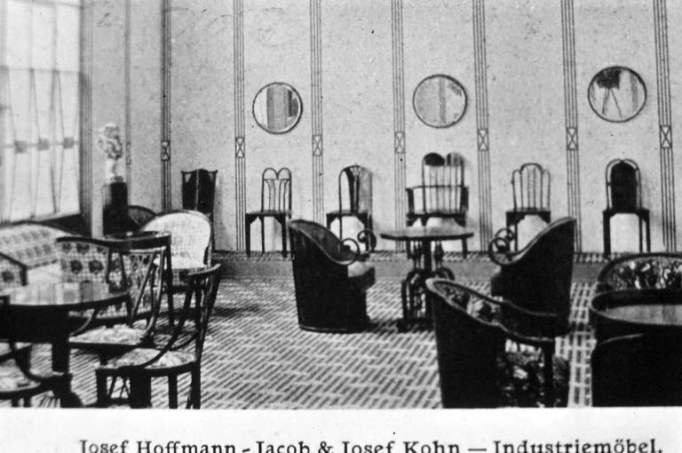 20th Century Josef Hoffmann 1908 Barrel-chair, Original, Kohn, Jugendstil, early 20th century For Sale