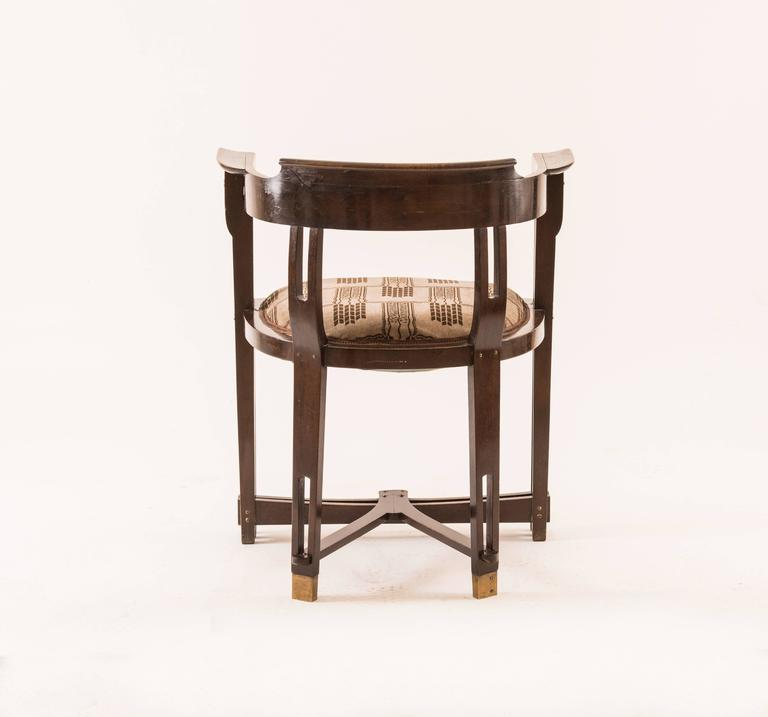 Vienna Secession  Viennese Secessionist Chair early 20th Century Wiener Werkstaette - Original For Sale