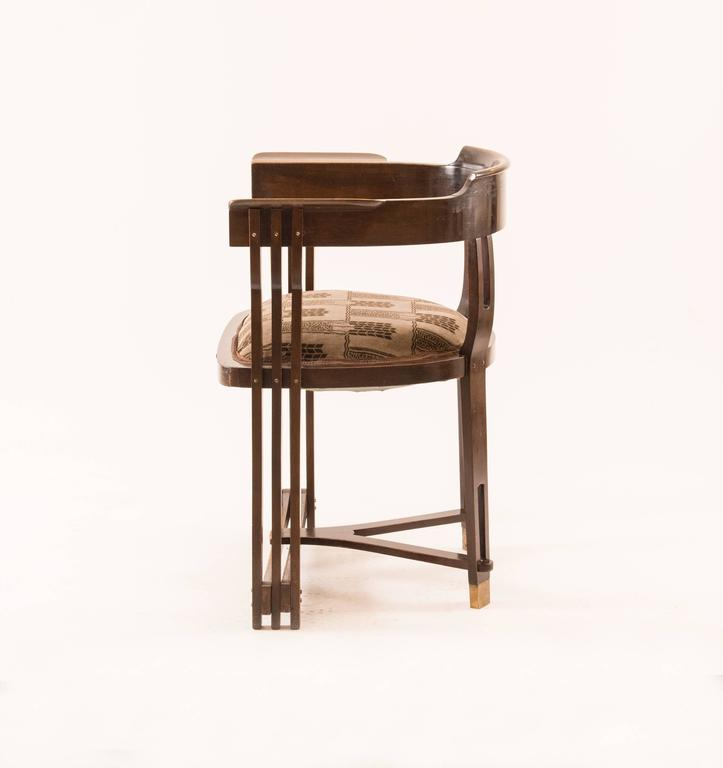 Austrian  Viennese Secessionist Chair early 20th Century Wiener Werkstaette - Original For Sale
