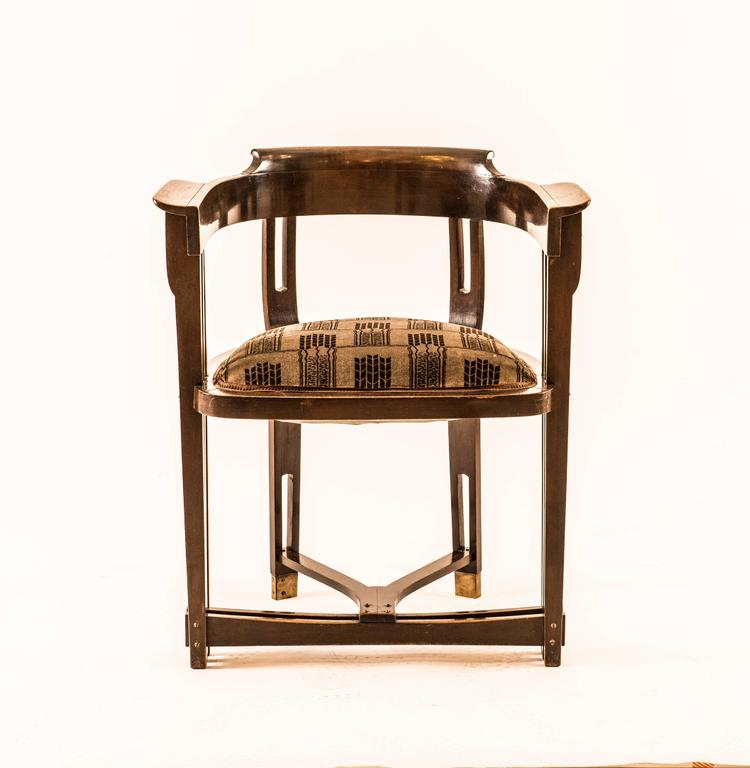 Hand-Crafted  Viennese Secessionist Chair early 20th Century Wiener Werkstaette - Original For Sale