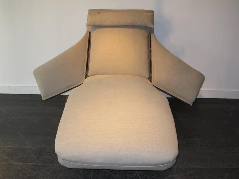 Vintage adjustable chaise longue by pascaud at 1stdibs for Chaise longue paris