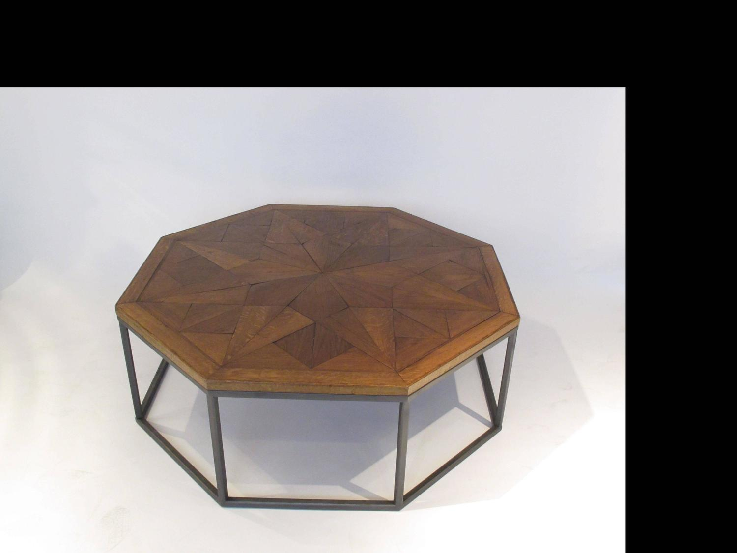 Bespoke Octagon Coffee Table With A 19th Century Oak Top For Sale At 1stdibs