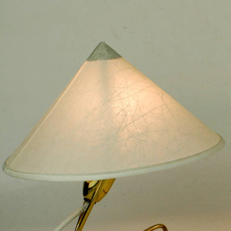 Mid-Century Modern Pair of Austrian Midcentury Brass Wall or Table Lamps by Rupert Nikoll For Sale