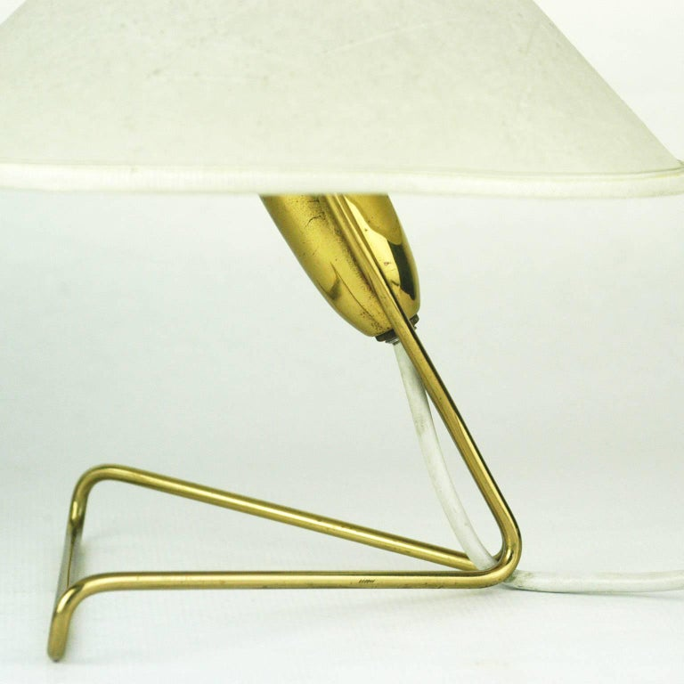 Mid-20th Century Pair of Austrian Midcentury Brass Wall or Table Lamps by Rupert Nikoll For Sale