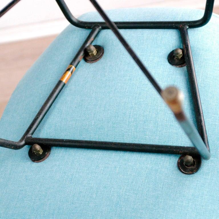Aster Esszimmertisch in Hellblau aus Eisen und Messing von Augusto Bozzi für Saporiti 6