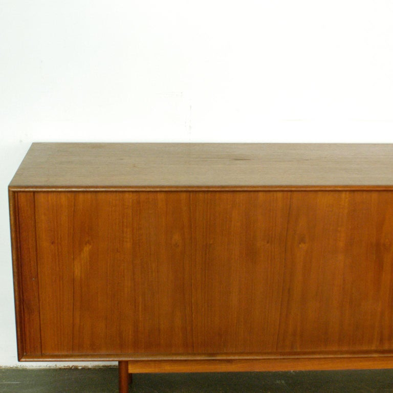 Scandinavian Modern Teak Tambour Door Credenza by Arne Vodder for Sibast For Sale 2