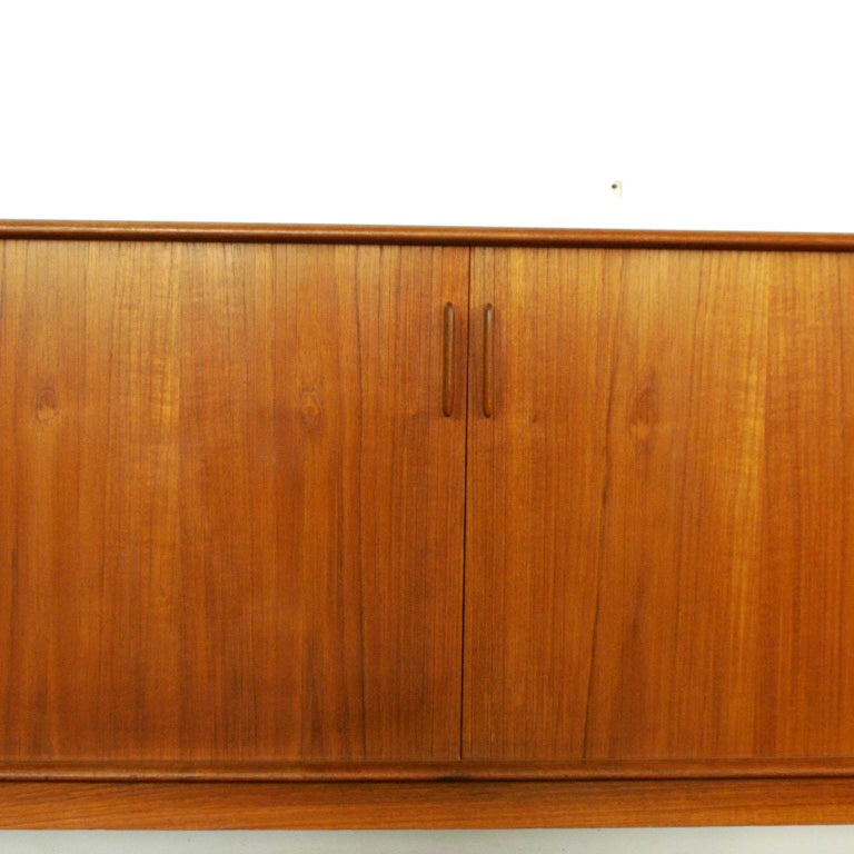 Scandinavian Modern Teak Tambour Door Credenza by Arne Vodder for Sibast For Sale 3