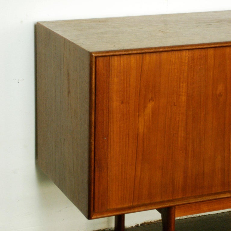 Scandinavian Modern Teak Tambour Door Credenza by Arne Vodder for Sibast For Sale 5