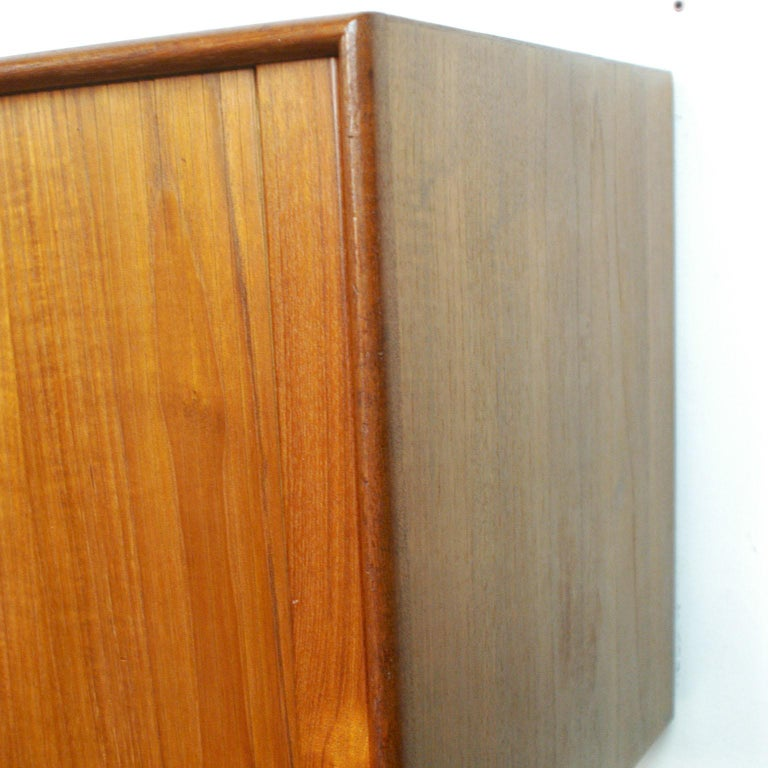 Scandinavian Modern Teak Tambour Door Credenza by Arne Vodder for Sibast For Sale 6